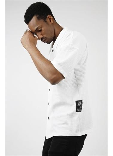 XHAN Mercan Salaş Kısa Kollu Gömlek 1Kxe2-44733-64 Beyaz